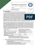 EXAMEN BIMESTRAL - CUARTO BIMESTRE (3° SEC)