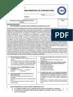 EXAMEN BIMESTRAL - CUARTO BIMESTRE (5° SEC)