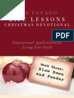 Lucado Life Lessons Christmas Devotional - Week 3