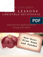 Lucado Life Lessons Christmas Devotional - Week 3