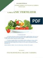 Organic fertilizer catalog 2019 season