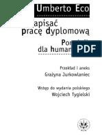 Jak napisać pracę dyplomową, poradnik dla humanistów - Umberto Eco.pdf