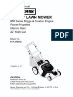 Craftsman Mower Manual