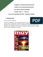 Artículo de Divulgación La narrativa Latinoamericana. Sept.27.2018