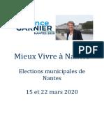 """Liste """"Mieux vivre à Nantes"""" pour les élections municipales 2020"""