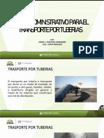 MARCO ADMINISTRATIVO PARA EL TRANSPORTE POR TUBERIAS