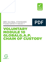 BRC Global Standard for Food Safety Issue 7 Voluntary Module 10 GLOBALG.A.P. Chain of Custody Free PDF