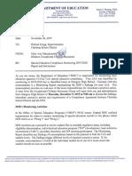 Christina School District - Compliance Monitoring Memo 2019-2020