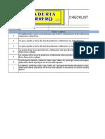 Checklist de instalaciones y areas