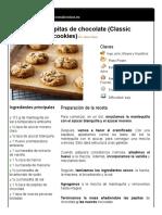 Galletas con pepitas de chocolate (Classic chocolate chip cookies)