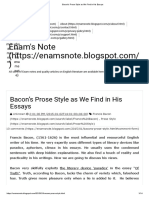 Bacon's Prose Style as We Find in His Essays