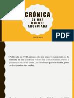 CRÓNICA DE UNA MUERTE ANUNCIADA