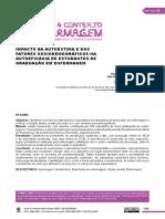 IMPACTO DA AUTOESTIMA E DOS FATORES SOCIODEMOGRÁFICOS NA AUTOEFICÁCIA DE ESTUDANTES DE GRADUAÇÃO EM ENFERMAGEM