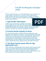 Things You Can Do To Promote A Gender Equitable Society.docx