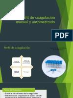 Hemostasia, pruebas y automatizacion en coagulación
