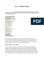 5 Steps to Write a Position Paper