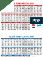 Fixture 2020 - Liga 1