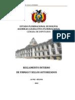 REGLAMENTO INTERNO DE  FIRMAS Y SELLOS AUTORIZADOS