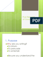 Five Elements of Good Writing.ppsx