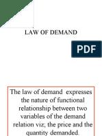 Unit-ii_law of Demand