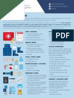 Emergency Kit One Sheet