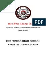 2019 SBCA-SHS Constitution