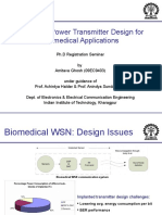Seminar on ultra low power transmitter design for MICS band applications