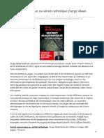 medias-catholique.info-Secret maçonnique ou vérité catholique Serge Abad-Gallardo