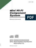 Manual Mini Component SonyMHC-RG575S