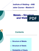 Module 01 Metals structure & Weldability Rev 2