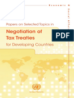 Tax Treaty Negotiations in Developing Countries