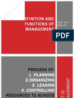 Definition and functions of management