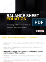 3Balance Sheet Equation