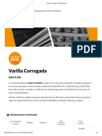 Varilla Corrugada – GrupoAcerero