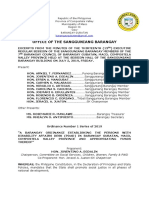 Barangay Ordinance Number 1 Series of 2019 PWD Desk