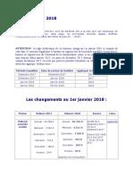 Barèmes paie 2018