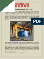 High Performance Movable Gantry Crane