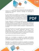 Presentación del curso Gestión de la calidad en el proyecto