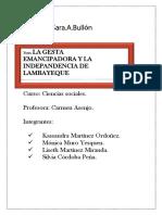 La gesta emancipadora y la independencia de lambayeque