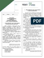 prova modulo 6 - Português - 9º EF