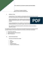 Gathering Data About Contextual Factors for Curriculum Development