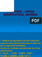EJERCICIOS INCERTEZA  , CIFRAS SIGNIFICATIVAS , MATERIA