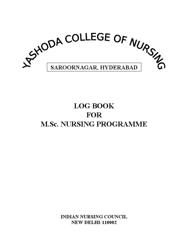 Dissertation logbook