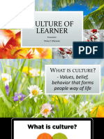 CULTURE OF LEARNER