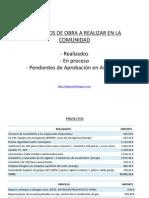 PROYECTOS DE OBRAS 2010
