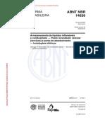 ABNT NBR 14639 Armazenamento de líquidos inflamáveis e combustíveis