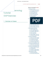 OOP Exercises - Java Programming Tutorial