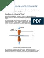 PART 166 What is Spot Welding