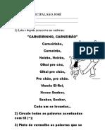 ATIVIDADES PARA O GRUPO