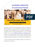 Fashion and Beauty Related-Free Images for Commercial Projects